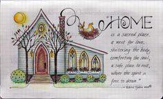 visual blessings, 2. Home Sweet Home in Moleskine journal.....beautiful artwork