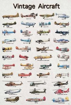 Model Vintage Airplane Aircraft Army Air Poster
