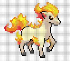 Ponyta Pixel Art Grid by Hama-Girl.deviantart.com on @deviantART