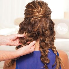 Easy Updo: Beautiful Braided Bun | First for Women