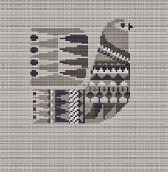 Danish Bird Cross Stitch Pattern PDF Pillow by WallflowerCushions Cross Stitch Bird, Simple Cross Stitch, Cross Stitch Borders, Cross Stitch Animals, Modern Cross Stitch, Cross Stitch Designs, Cross Stitching, Cross Stitch Embroidery, Cross Stitch Patterns