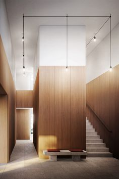 Image 5 of 6 from gallery of David Chipperfield and Mark Randel Design Residential Building for Euroboden in Munich. © Darcstudio for Euroboden Home Design, Wall Design, Design Design, Design Ideas, Neoclassical Architecture, Interior Architecture, Lobby Interior, Interior And Exterior, Modern Interior
