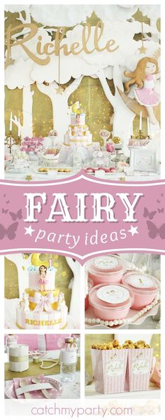 Take a look at this magical Fairy birthday party! The birthday cake is amazing!! See more party ideas and share yours at CatchMyParty.com #fairy #girlbirthday