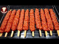 EV FIRININDA TÜM PÜF NOKTALARI İLE ADANA TARİFİ - YouTube Sausage, Recipes, Food, Recipe, Essen, Sausages, Recipies, Meals, Ripped Recipes