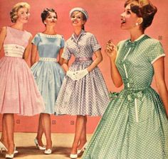 So um, yeah. I'm a closet vintage dress girl, especially 1940-1950. Give me a string of pearls, white gloves, some polka dots and I'm a happy girl. I really should learn how to sew.
