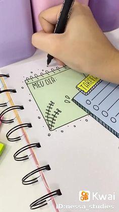 Bullet Journal Paper, Bullet Journal Cover Ideas, Bullet Journal Lettering Ideas, Bullet Journal Writing, Bullet Journal School, Bullet Journal Inspiration, Diy Crafts Gift Box, Life Hacks For School, Lettering Tutorial