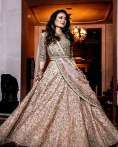 most popular Ideas indian wedding gowns anita dongre Party Wear Indian Dresses, Indian Wedding Gowns, Indian Bridal Outfits, Indian Gowns Dresses, Dress Indian Style, Indian Designer Outfits, Wedding Dress With Belt, Indian Reception Outfit, Bridal Wedding Dresses
