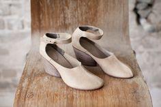 SALE 40% OFF Natural Maryjane shoes/ Natural by WalkByAnatDahari