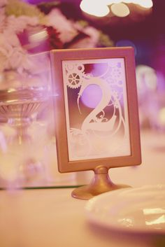 Table numbers- frame from ikea