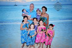 Love the matching dresses on these princesses at their grandparents anniversary in Aruba