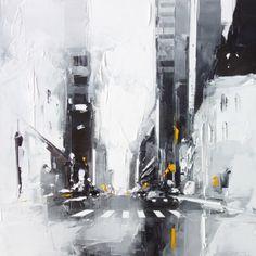 L'oeuvre unique et originale Black and yellow a été réalisée par l'artiste Daniel Castan, qui réalise des peintures représentant souvent des grandes villes américaines, avec un style urbain très caractéristique, et une technique...