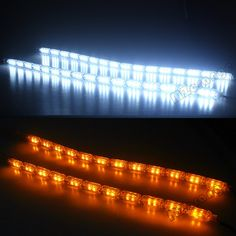 Cheapest prices US $17.23  Car-styling 2pcs Car Flexible Switchback LED Knight Rider Strip Light for Headlight Sequential Flasher DRL Turn Signal Lamp
