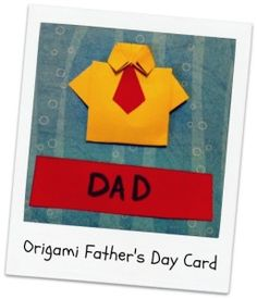 What a fun card to make for dad! Homemade Fathers Day Gifts, Fathers Day Crafts, Diy Gifts, Origami Shirt, Fun Arts And Crafts, Craft Projects For Kids, Art Projects, Dad Day, Music For Kids