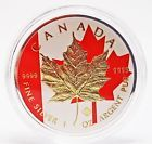 1 oz Silver Maple Leaf Canadian Flag Colorized and Gold Gilded Rare Coin 9999 Ag - http://coins.goshoppins.com/candaian-coins/1-oz-silver-maple-leaf-canadian-flag-colorized-and-gold-gilded-rare-coin-9999-ag/