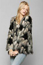 Ladakh Pieced Faux Fur Jacket. $159.00   #women #fashion #fur #jacket #outerwear