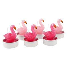 Flamingo Tea Light Candles - Set of 6 - Waiting On Martha - 2