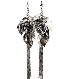 Long Leaf Earrings Bent Delicate Crystal Tassel C28 Burnish Silver Tone Gunmetal Recyclebabe Earrings http://www.amazon.com/dp/B0117NJQVM/ref=cm_sw_r_pi_dp_mFONvb0R6Q4KK