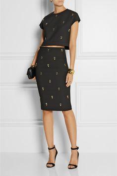 Elizabeth and James Lima embellished stretch-ponte skirt NET-A-PORTER.COM