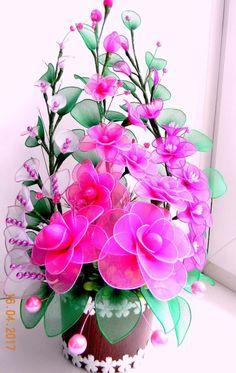 Flores de Meia de Seda: Passo a Passo Fácil + 21 Modelos Lindos | Revista Artesanato