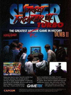 dac36ad939c Poster de Capcom y GameTake promocionando Doom II y Super Street Fighter II  Turbo en PC