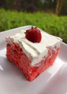 Strawberries and Cream Cake - it took all my willpower not to devour it before the party!