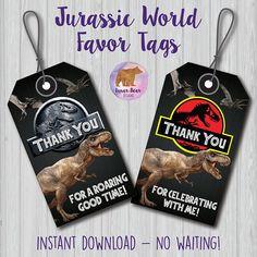 Jurassic World Party Tags Jurassic Park Party Tags Dinosaur