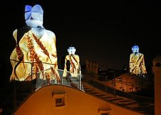 """""""Gaudí's Pedrera: The Origins"""", an audiovisual show which allows to make an unforgettable journey to the origins of life, the essence of Gaudí's architecture, with multiple projections, special lighting and  soundtrack."""