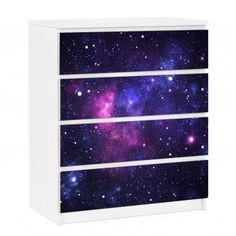 Paint the inside of your bookshelf galaxy colors! Would work with a dresser too