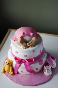 The perfect baby shower cake for a boy or girl