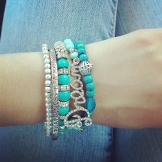 #summer #armcandy #turquoise #guess #accessories #bracelets