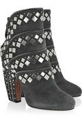 Shop on-sale Alaïa Studded suede ankle boots. Browse other discount designer boots & more on The Most Fashionable Fashion Outlet, THE OUTNET.COM.