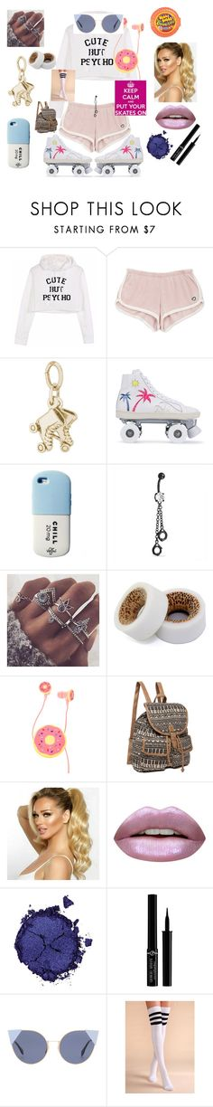 """""""Roller Girl"""" by aprilr771 ❤ liked on Polyvore featuring Rembrandt Charms, Yves Saint Laurent, Bling Jewelry, Huda Beauty, Pat McGrath, Giorgio Armani and Fendi"""