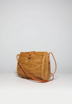 Rattan Basket Bag from Bali, Etsy