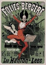Les Hanlon-Lees, affiche de Jules Chéret pour leur spectacle musical Do-Mi-Sol-Do aux Folies Bergères en 1878