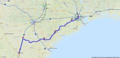 Bicycle Directions from Laredo, Texas to Houston, Texas | MapQuest