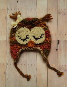 OMG! I WANT THIS!!!! Newborn Owl Hat Baby Girl Owl Hat Infant Owl Hat by Stitched4Ewe, $26.95