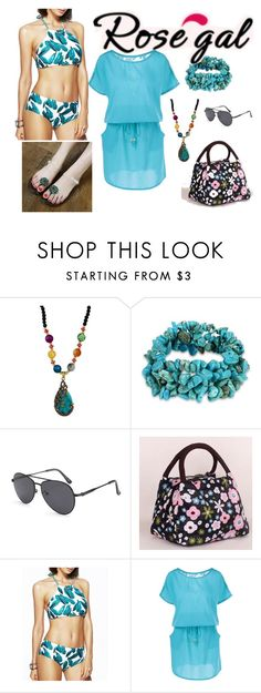 """Win $20 Cash from Rosegal!"" by amraa-145 ❤ liked on Polyvore featuring Summer, beach and bluevibes"