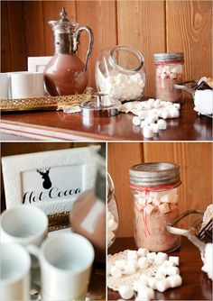 look at that dang hot chocolate canister ....I want that added to our registry. its like Santa's Hot Chocolate decanter.
