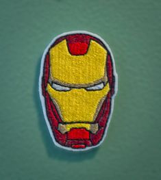 Iron Man Helmet  Embroidered Avengers Super Hero Patch by OKsmalls