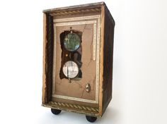Amy Lowell Poetry Assemblage - Vintage Shadowbox Assemblage with Glasses - Up-cycled Shadowbox Art Piece