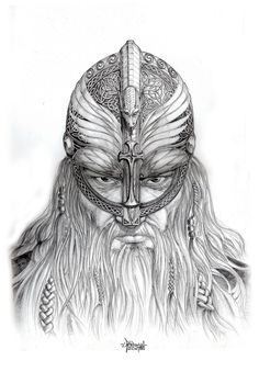 viking drawing | Haraldr Hadrada Portrait by ~Loren86 on deviantART