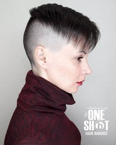 Cool short hairstyles - Women Hairstyle for Every Age! Short Hair Dont Care, Short Dark Hair, Girl Short Hair, Short Hair Cuts, Undercut Hairstyles Women, Short Hair Undercut, Cool Short Hairstyles, Hairstyle Short, New Hair Look