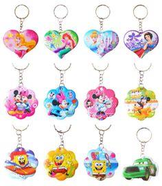 £1.69 - New-Disney-Keyring-Disney-Princess-Pink-Girls-Cute-Key-Ring-Keyfob-Soft-Keychain