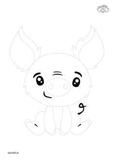 Uzupełnianka Dzik #naukarysowania #dladzieci #edusiaki #kolorowanki #krokpokroku #uzupelnianki #lamiglowki Peppa Pig, Hello Kitty, Snoopy, Fictional Characters, Fantasy Characters