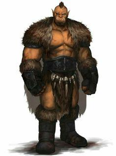 Orc River Flow Druid - Pathfinder PFRPG DND D&D d20 fantasy