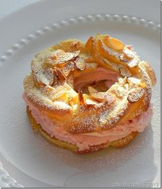 Paris Brest with Raspberry Whipped Cream Filling via @savoringitaly