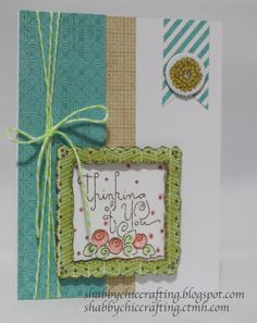 Close to My Heart CTMH Thinking of You Card by SCCraftsStore, ETSY