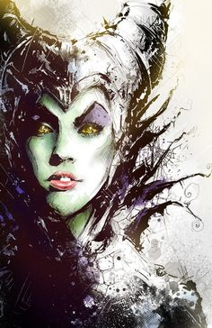 Maleficent Art Print by Vincent Vernacatola | Society6