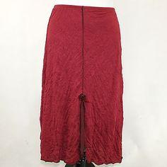 NWT-Lee-Andersen-Plus-Size-Wine-Red-Floribunda-Dressy-Skirt-2X-3X-Made-in-USA
