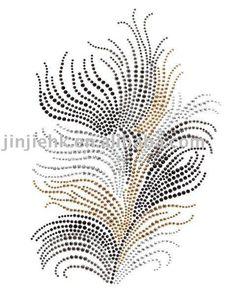plume en strass